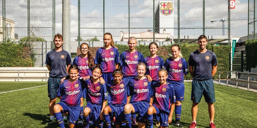 El debut del FC Barcelona Girls Camp
